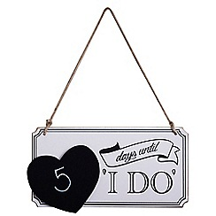 Ginger Ray - Multi-coloured wooden 'I Do' hanging sign