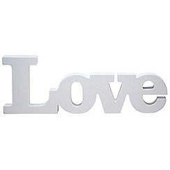 Ginger Ray - White wooden 'Love' hanging sign