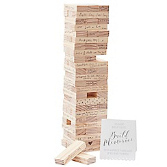 Ginger Ray - Wooden 'Build A Memory' building blocks guest book
