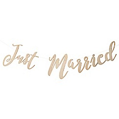 Ginger Ray - Wooden 'Just Married' bunting