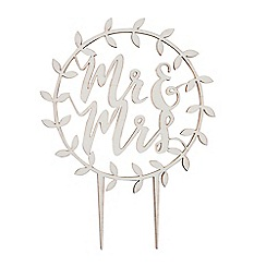 Ginger Ray - Wooden 'Mr And Mrs' cake topper