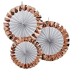 Ginger Ray - Rose gold foiled hanging fan decorations