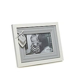 Sass & Belle - White and grey heart photo frame