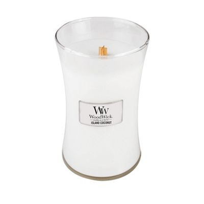 Wood Wick   Large 'island Coconut' Scented Jar Candle by Wood Wick