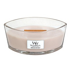 WoodWick - 'Vanilla and Sea Salt' hearthwick scented jar candle