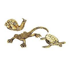 Broste - Gold animal ornaments