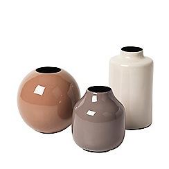 Broste - Cream iron 'Lindi' vase