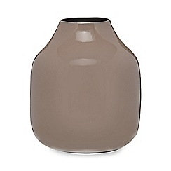 Broste - Brown iron 'Lindi' vase