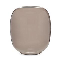 Broste - Brown enamel 'Viola' vase