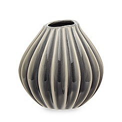 Broste - Blue ceramic 'Wide' small vase