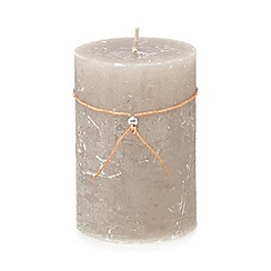 Broste - Grey 'Pearl' pillar candle