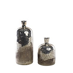 Nkuku - Small silver glass 'Tabia' rustic bottle