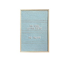 The Cool Company - Light blue 'The Philippe' letter board