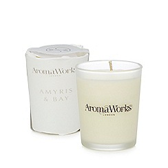 AromaWorks - Small Amyris and bay scented candle
