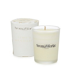 AromaWorks - Small lime and mandarin scented candle