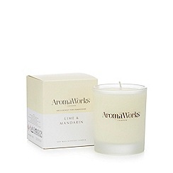 Aromaworks - Lime and Mandarin scented candle