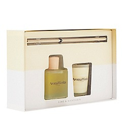 AromaWorks - Lime and mandarin reed diffuser and scented candle set