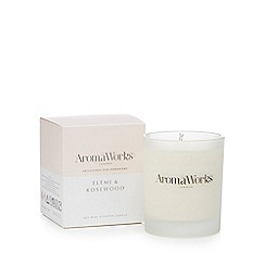 AromaWorks - Elemi and rosewood scented candle