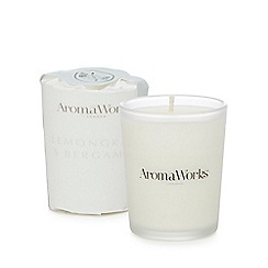 AromaWorks - Small lemon and bergamot scented candle