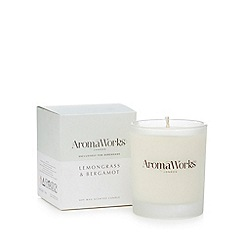 Aromaworks - Lemongrass and bergamot scented candle