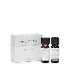 Aromaworks - Lime & mandarin and lemongrass & bergamot pure essential oils