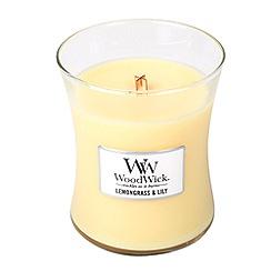 WoodWick - Lemongrass and lily medium jar