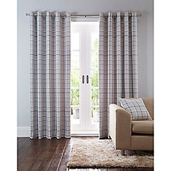 Home Collection - Grey checked eyelet curtains