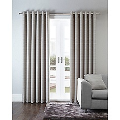 Home Collection - Silver bamboo jacquard eyelet curtains