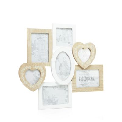 Home Collection Wooden seven aperture photo frame | Debenhams