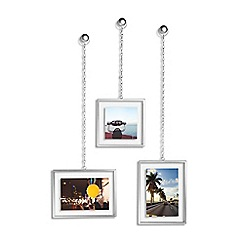 Umbra - Set of 3 silver fotochain photo frames