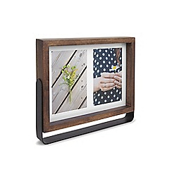 Umbra - Walnut rubberwood 'Axis' multi photo frame
