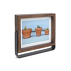 Umbra - Walnut rubberwood 'Axis' photo frame