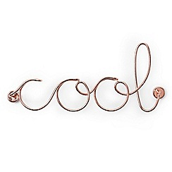 Umbra - Steel wire copper plated 'Cool' ornament