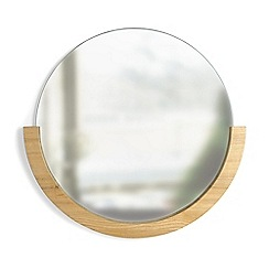 Umbra - Natural 'Mira' round mirror
