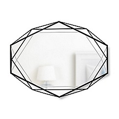 Umbra - Black 'Prisma' wall mirror