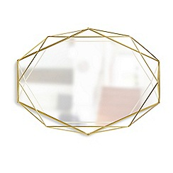 Umbra - Brass 'Prisma' wall mirror