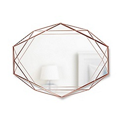 Umbra - Copper 'Prisma' wall mirror