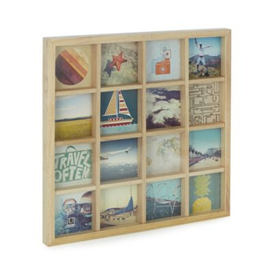 Umbra Gridart Multi Photo Display - Natural | Debenhams