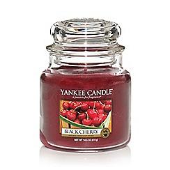 Yankee Candle - Medium 'Black Cherry' scented jar candle
