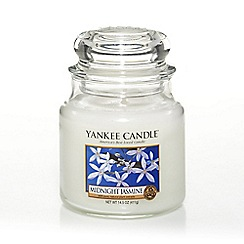 Yankee Candle - Medium 'Midnight Jasmine' scented jar candle