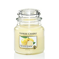 Yankee Candle - Medium 'Sicilian Lemon' scented jar candle