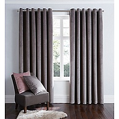 Home Collection - Dark grey velvet eyelet curtains