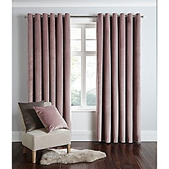Home Collection - Powder pink velvet eyelet curtains