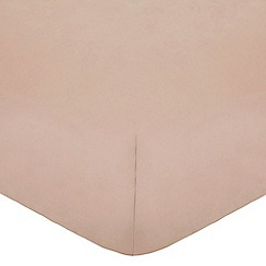 Home Collection - Dusky Pink Egyptian cotton 200 thread count fitted sheet