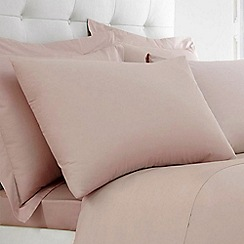 Home Collection - Dusky Pink Egyptian cotton 200 thread count oxford pillowcase pair