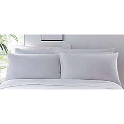 Debenhams - White Organic Cotton Standard Pillowcase Pair