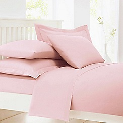 Debenhams - Pale Pink Cotton Rich Percale Fitted Sheet