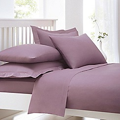 Debenhams - Mauve Purple Cotton Rich Percale Fitted Sheet