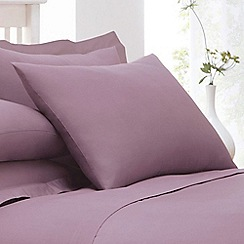 Debenhams - Mauve Purple Cotton Rich Percale Pillow Case Pair
