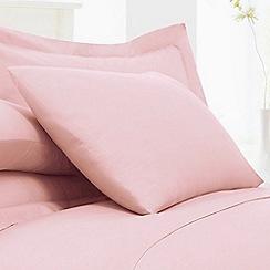 Debenhams - Light pink cotton rich percale Oxford pillow case pair